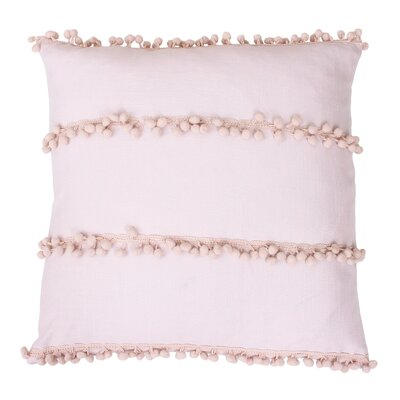 Rahma Pom Pom Throw Pillow Color: Rose Smoke