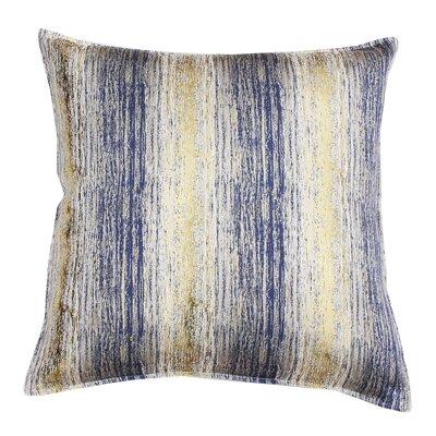 Ascot Place Metallic Jacquard Throw Pillow Color: Vintage Indigo Gold