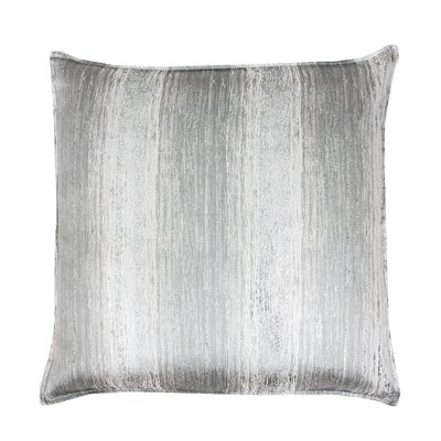 Ascot Place Metallic Jacquard Throw Pillow Color: Silver Silver
