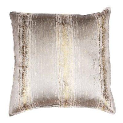 Ascot Place Metallic Jacquard Throw Pillow Color: Oatmeal Gold