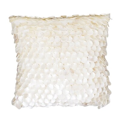 Kelesia Capiz Shell Silk Throw Pillow Color: Egret