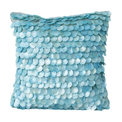 Kelesia Capiz Shell Silk Throw Pillow Color: Aquarelle