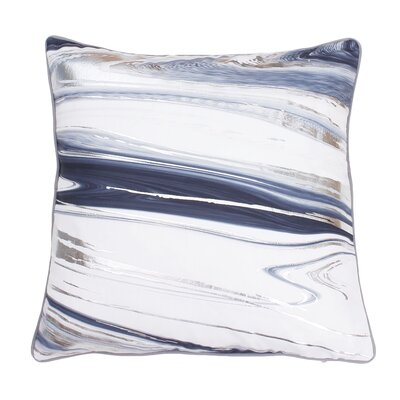 Ashanti Raised Foil Throw Pillow Color: Gray Flannel Silver