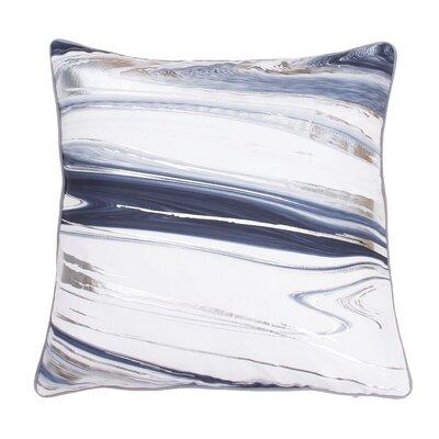 Ashanti Raised Foil Throw Pillow Color: Gray Flannel Silver