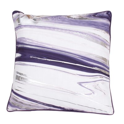 Ashanti Raised Foil Throw Pillow Color: Vintage Voilet Silver