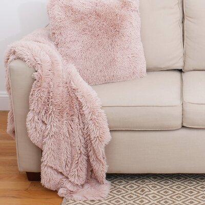Alvarado Faux Fur Throw Color: Rose Smoke