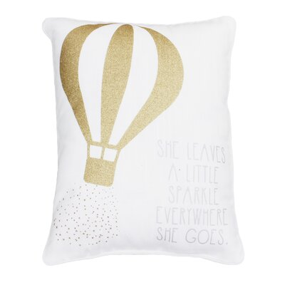 Avebury She Leaves a Little Sparkle Wherever She Goes Sequined Lumbar Pillow