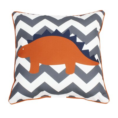 Dunamuggy Dinosaur Reversible Throw Pillow