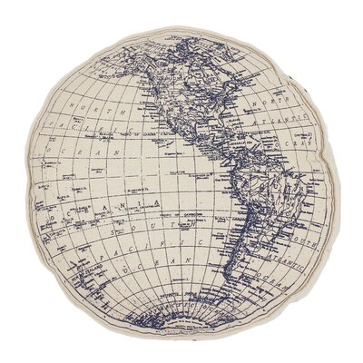 Jasper Round Globe Printed on Daze Throw Pillow