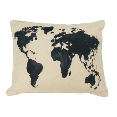 Fonville World Wander Reversible Printed Throw Pillow