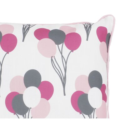 Argent Elephant Printed Reversible Throw Pillow Color: Pink/Gray
