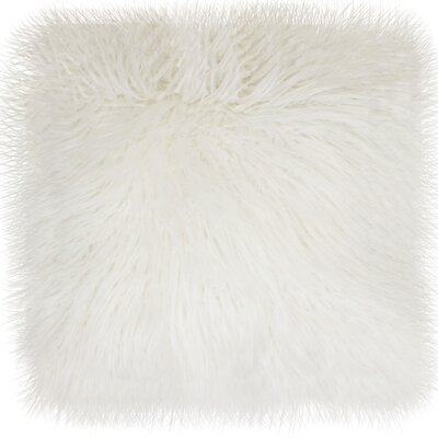 Alanna Throw Pillow Size: 16 x 16, Color: Bright White