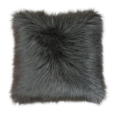 Alanna Throw Pillow Size: 20 x 20 , Color: Charcoal