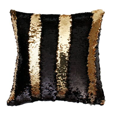 Fiqueroa Throw Pillow Color: Black Gold