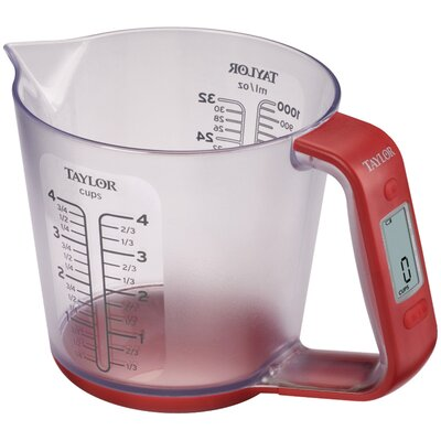 4 Cups Plastic Digital Measuring Cup Scale 3890