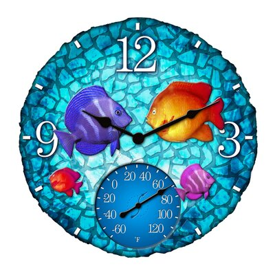 "Taylor Fish Outdoor 14"" Clock/Thermometer at Sears.com"