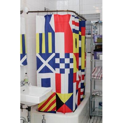 Nautical Flag Shower Curtain