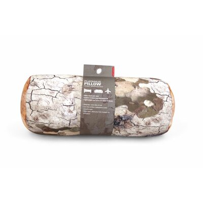 Log Head Rest Bolster Pillow Color: Platanus