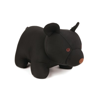 Ishaan Zip and Flip Bear Head Rest Throw Pillow Color: Black