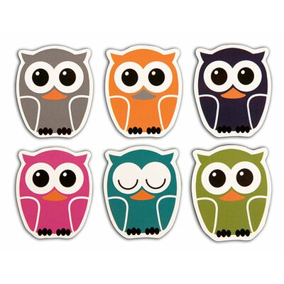 Owl Rubber Magnets (Set of 4)