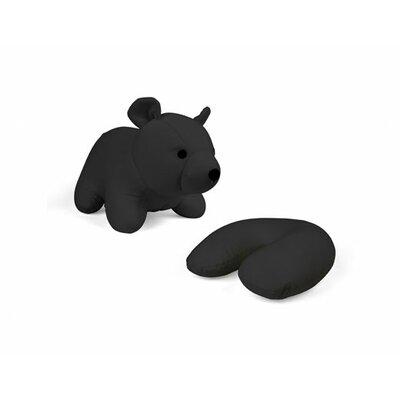 Zip and Flip Bear Head Rest Throw Pillow Color: Black