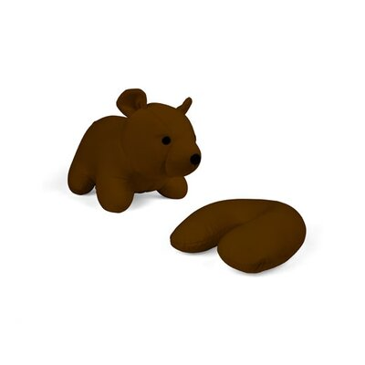 Ishaan Zip and Flip Bear Head Rest Throw Pillow Color: Brown