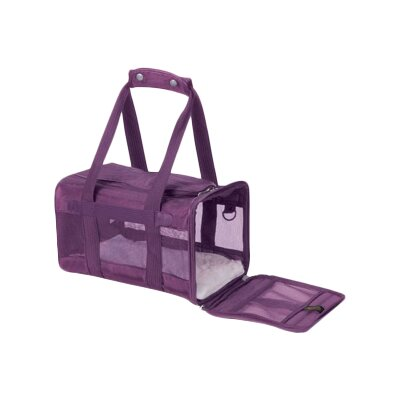 Original Deluxe Pet Carrier Size: Small (8.5 H x 10 W x 15 L ), Color: Plum