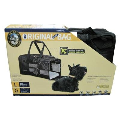 Deluxe Pet Carrier Color: Black, Size: Large (12.5 H x 11.75 W x 20 L)