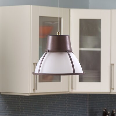 Bente Hanging 1-Light Inverted Pendant Finish: Bronze