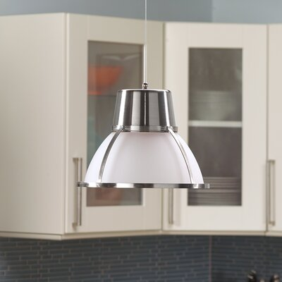 Bente Hanging 1-Light Inverted Pendant Finish: Nickel