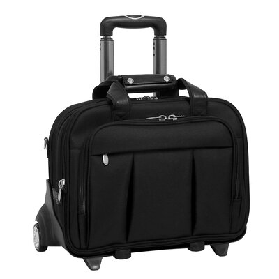 R Series Damen Nylon 2-in-1 Removable-Wheeled Laptop Case in Black
