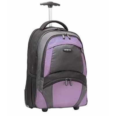 "Samsonite 19"" Wheeled Backpack - Color: Black / Lavendar at Sears.com"