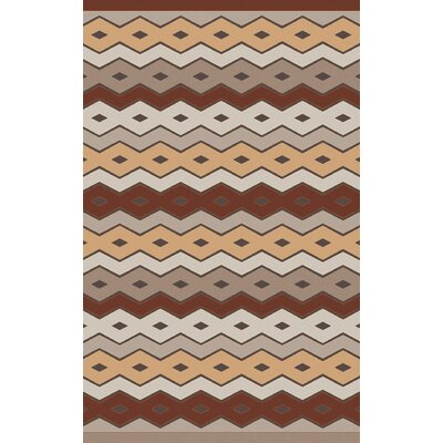 Native Geometric Hand Woven Wool Brown/Beige Area Rug Rug Size: 33 x 53