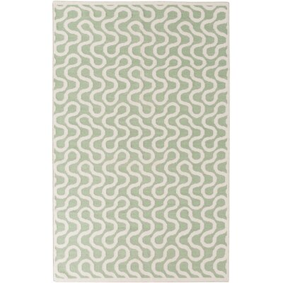 Native Sea Foam Geometric Area Rug Rug Size: Rectangle 5 x 8
