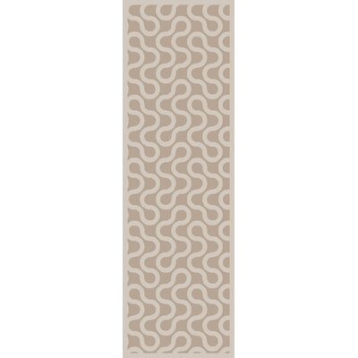 Native Gray/Ivory Geometric Area Rug Rug Size: Runner 26 x 8