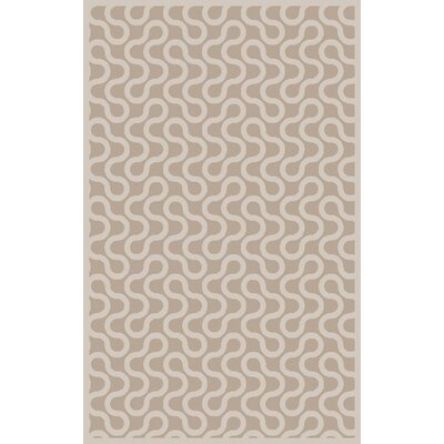 Native Gray/Ivory Geometric Area Rug Rug Size: Rectangle 5 x 8