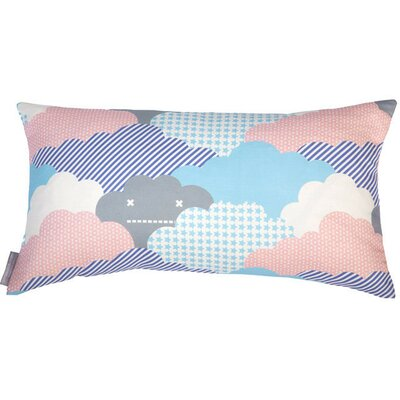 Clouds Bolster Pillow Color: Sonic, Fill Type: Fiber Fill