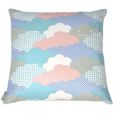 Clouds Euro Pillow Color: Storm, Fill Type: FIber Fill