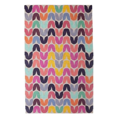 Tulip Hand-Woven Pink Area Rug Rug Size: 9' x 12'