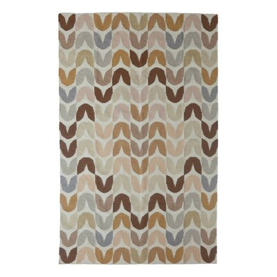 Tulip Hand-Woven Brown Area Rug Rug Size: 9 x 12