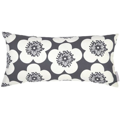 Pop Floral Bolster Pillow Color: Charcoal, Fill Type: Fiber Fill
