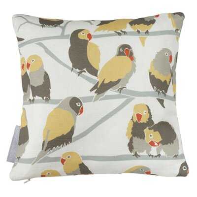 Lovebirds Paradise Throw Pillow Fill Type: Feather Down