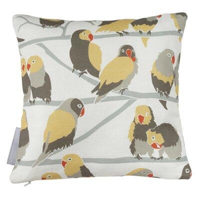 Lovebirds Paradise Throw Pillow Fill Type: Fiber Fill