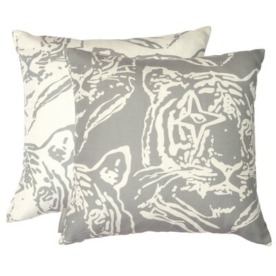 Star Tiger Inverted Throw Pillow Color: Tin, Fill Type: Fiber Fill