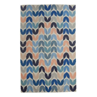 Tulip Hand-Woven Blue Area Rug Rug Size: 9 x 12