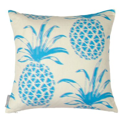 Pina Azul Throw Pillow Fill Type: Feather Down