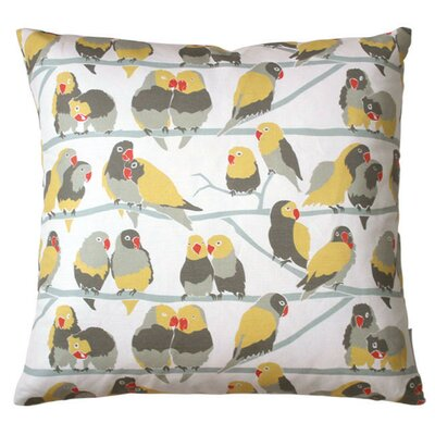 Lovebirds Paradise Throw Pillow Fill Type: Fiber Fill