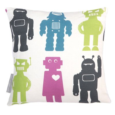Robots Throw Pillow Color: Classic, Fill Type: Fiber Fill