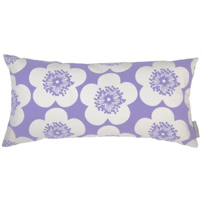 Pop Floral Bolster Pillow Color: Violet, Fill Type: Feather Down
