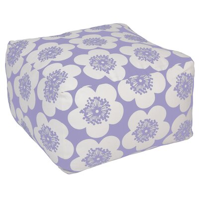 Pop Floral Pouf Ottoman Upholstery: Violet, Insert: No Insert
